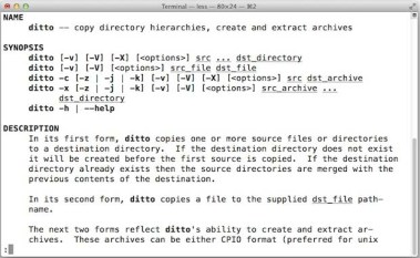Use ditto to Copy Files & Directories from the Mac Terminal