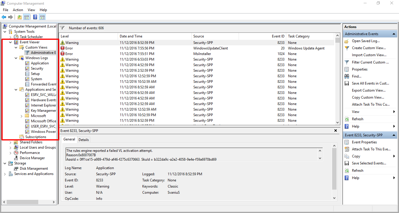 How to use Event Viewer to Troubleshoot Problems with your PC – Svanews